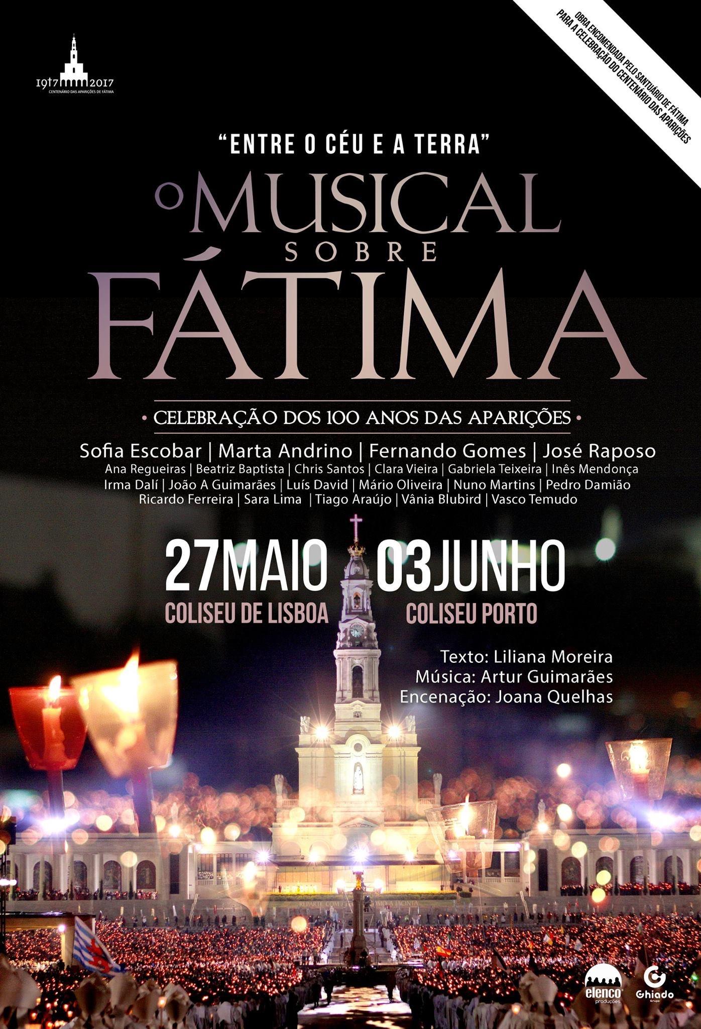 Cartaz: Entre o Céu e a Terra - O Musical sobre Fátima